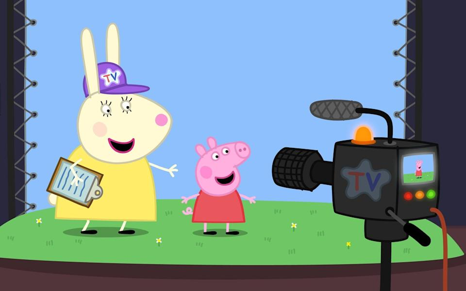 Hogging the limelight, Peppa Pig has proved popular with American children during the pandemic