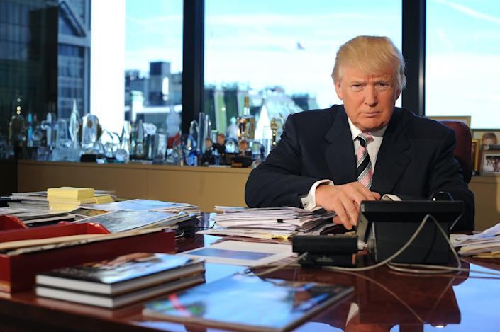 Donald Trump is pictured in his office in Trump Tower in 2012.