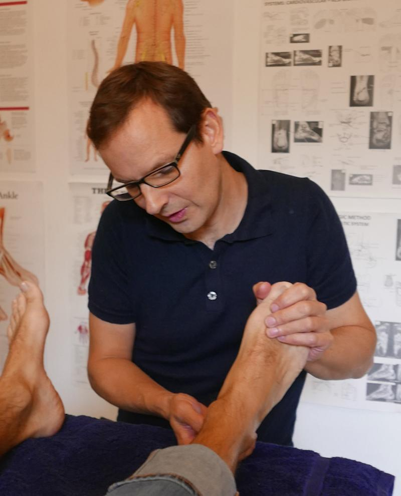 Reflexologist Rupert says stress-related problems are one of the key reasons as to why people visit him (Rupert French)