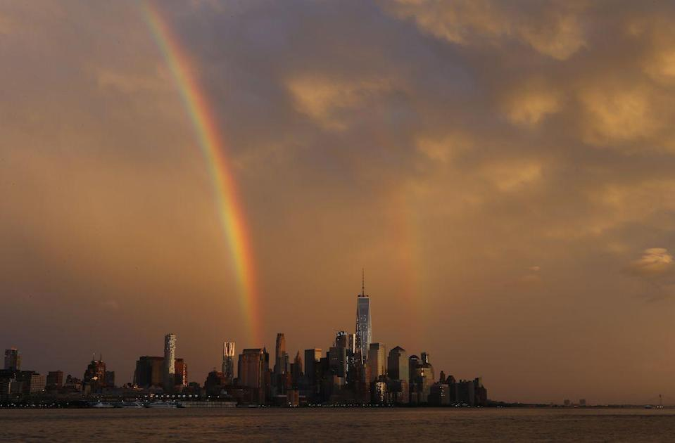 <p>Double rainbow over Lower Manhattan // June 5, 2016</p>