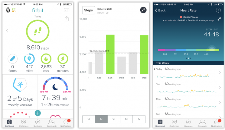 The Fitbit app is full of clearly presented data—about you.