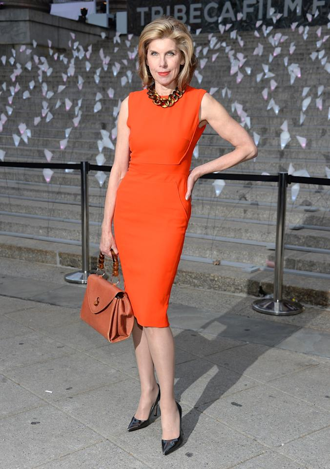 NEW YORK, NY - APRIL 16:  Actress Christine Baranski attends Vanity Fair Party for the 2013 Tribeca Film Festival on April 16, 2013 in New York City.  (Photo by Dimitrios Kambouris/Getty Images)