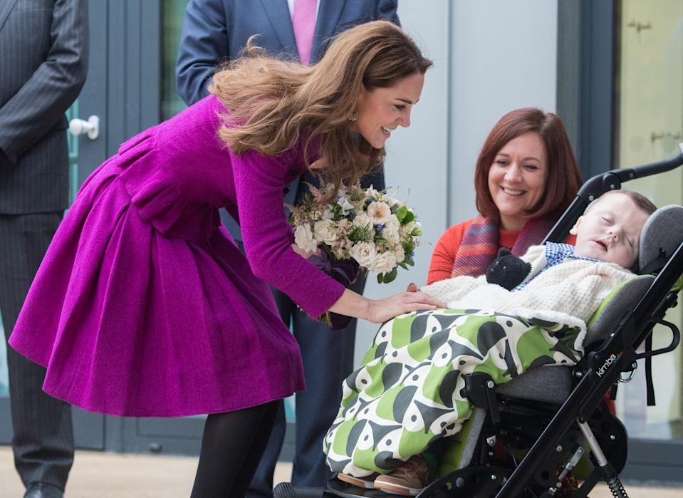 FRAMINGHAM EARL, NORFOLK - NOVEMBER 15: Catherine, Duchess of Cambridge opens The Nook Children Hospice on November 15, 2019 in Framingham Earl, Norfolk.The Duchess of Cambridge is Royal Patron of East Anglia's Children's Hospices. (Photo by Samir Hussein/WireImage)