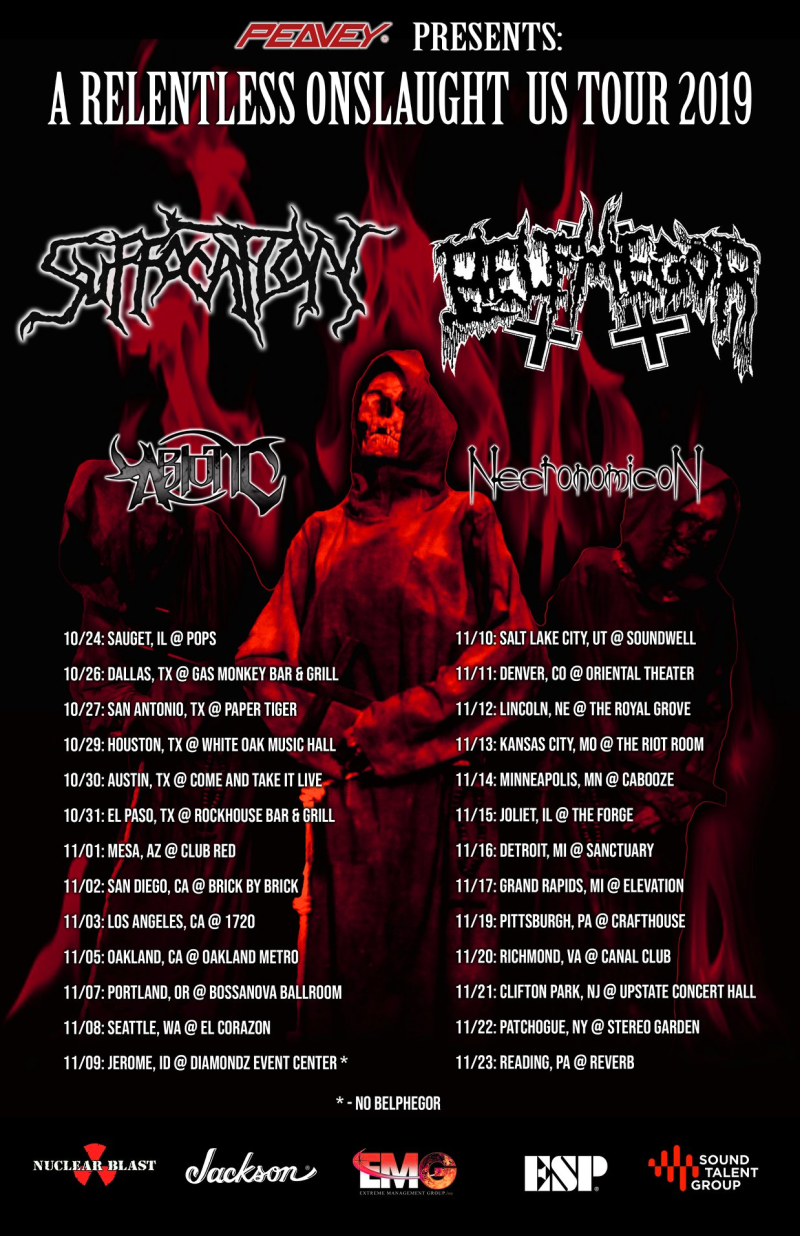 Suffocation and Belphegor tour poster