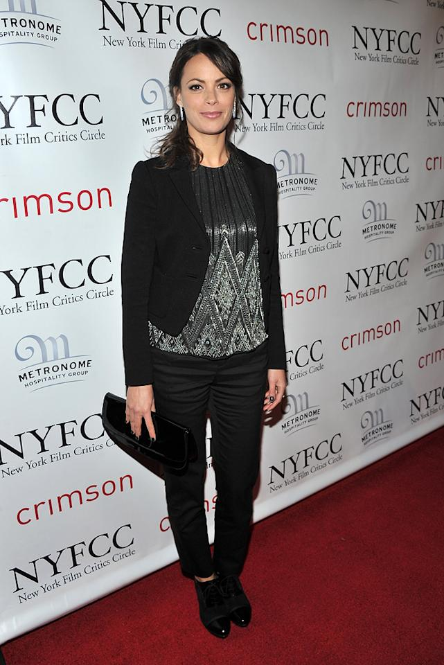 Berenice Bejo at the 2011 New York Film Critics Circle Awards in New York City on January 9, 2012.