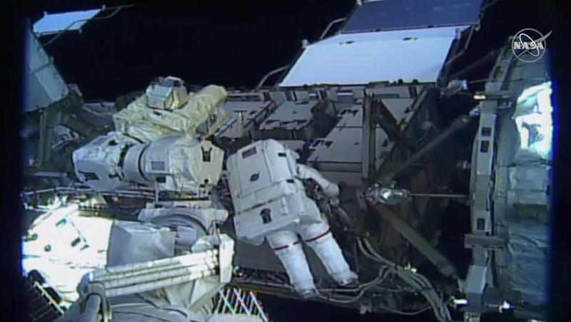 U.S. astronauts Koch and Meir attempt the first all-female spacewalk outside the ISS