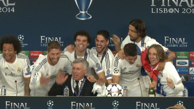 Real Madrid fans celebrate on night of contrasting emotions