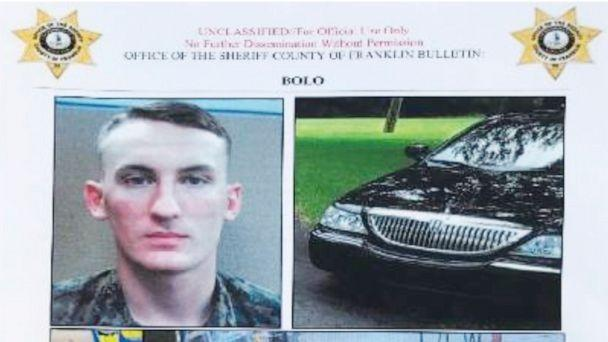 PHOTO: In this undated image released by the Franklin County (Va.) Sheriff's Office, U. S. Marine Michael Alexander Brown is shown. The Marine, who has been on the run for a couple of weeks, has been arrested. (Franklin County (Va.) Sheriff's Office via AP)