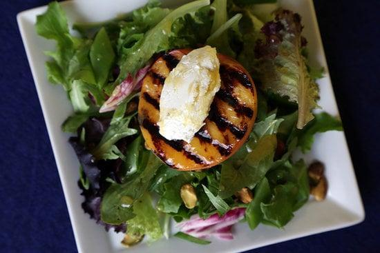 "<p>Juicy summer peaches are delicious enough as it is, and when you take them to the grill, the result is pure heaven. </p> <p><strong>Get the recipe:</strong> <a href=""https://www.popsugar.com/food/Grilled-Peach-Salad-Recipe-9070156"" class=""link rapid-noclick-resp"" rel=""nofollow noopener"" target=""_blank"" data-ylk=""slk:grilled peach salad with goat cheese"">grilled peach salad with goat cheese</a></p>"