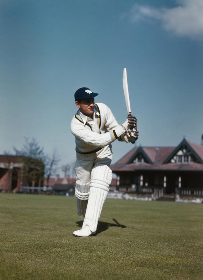 English cricketer and right-handed batsman Len Hutton (1916 - 1990), circa 1955. (Photo by Getty Images)