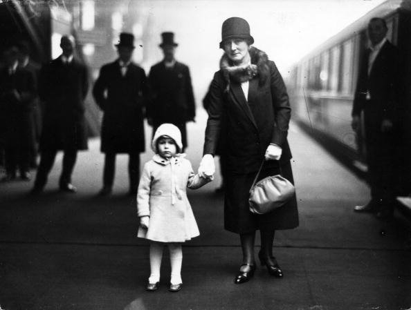<p>Princess Elizabeth on the platform at King's Cross station, about to depart with her Royal grandparents for Christmas holidays at their Norfolk country home, Sandringham.</p>