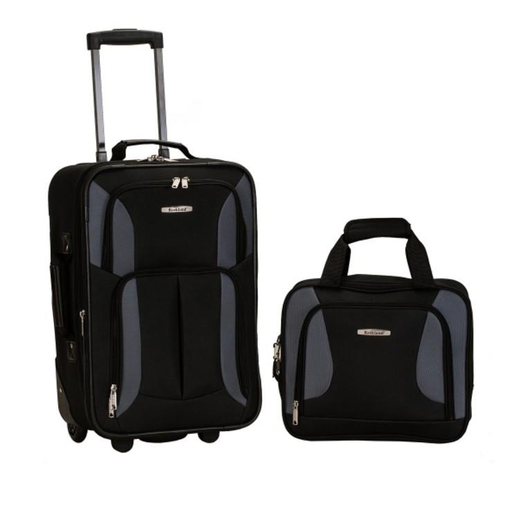 You can get this two-piece luggage set for 65 percent off by using the code: SHOP. (Photo: Macys)