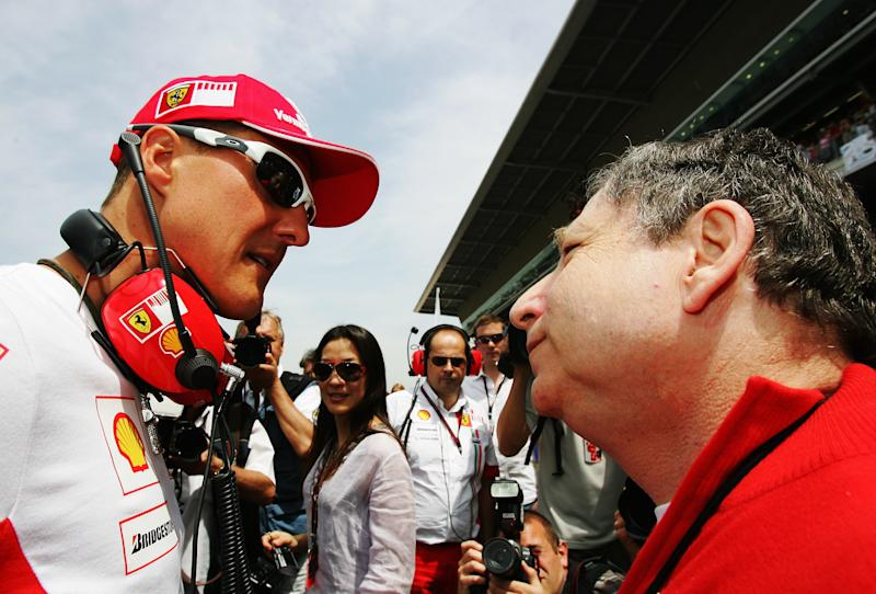 Schumacher and Todt worked closely together at Ferrari
