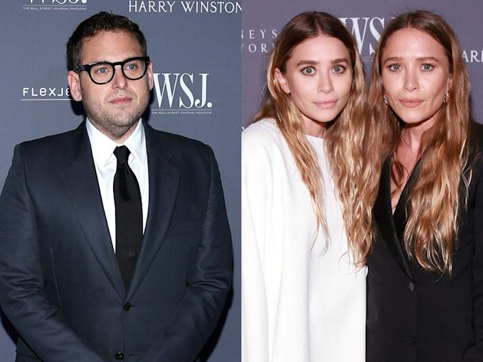 jonah hill marykate and ashley olsen