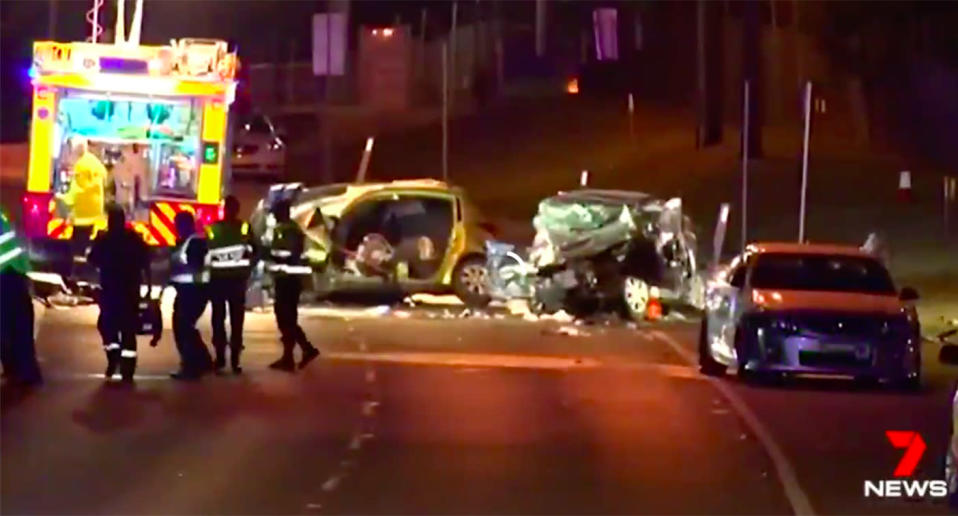 Orchard Hills crash: A 29-year-old man remains in hospital under police guard. Source: 7News