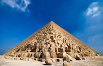 """<p>Over <a href=""""https://www.livescience.com/18589-cost-build-great-pyramid-today.html"""" rel=""""nofollow noopener"""" target=""""_blank"""" data-ylk=""""slk:two million blocks of stone"""" class=""""link rapid-noclick-resp"""">two million blocks of stone</a> make up the Great Pyramid of Khufu.</p>"""