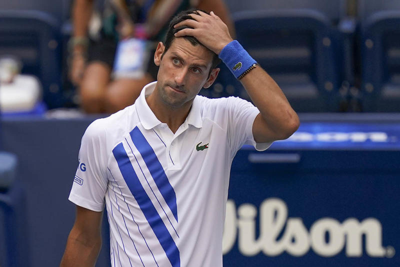 Tennis Star Novak Djokovic Defaulted From Us Open After Accidentally Hitting Lineswoman With Ball