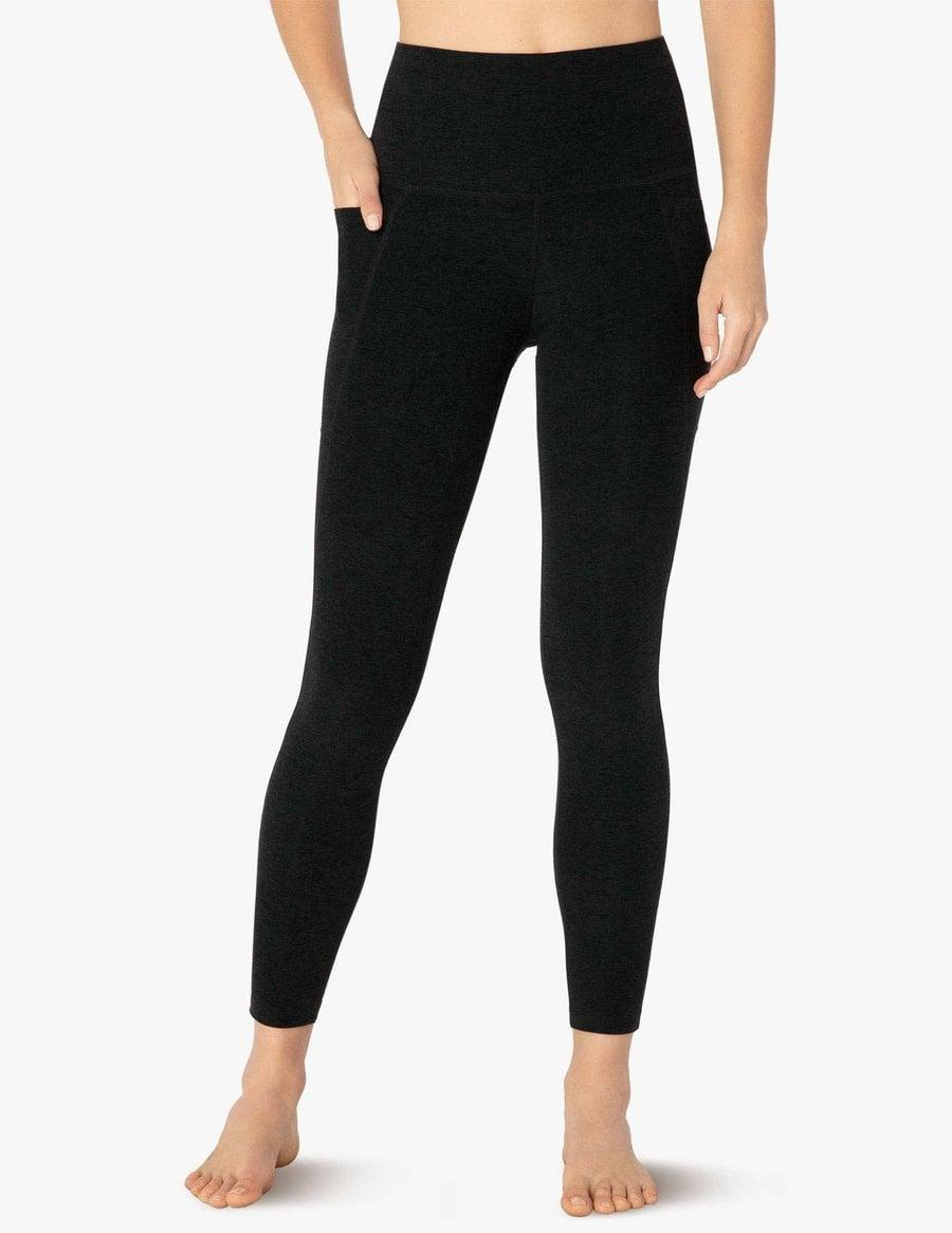 <p>These black <span>Beyond Yoga Spacedye Out of Pocket High Waisted Midi Leggings</span> ($99) should be a staple in everyone's wardrobe.</p>
