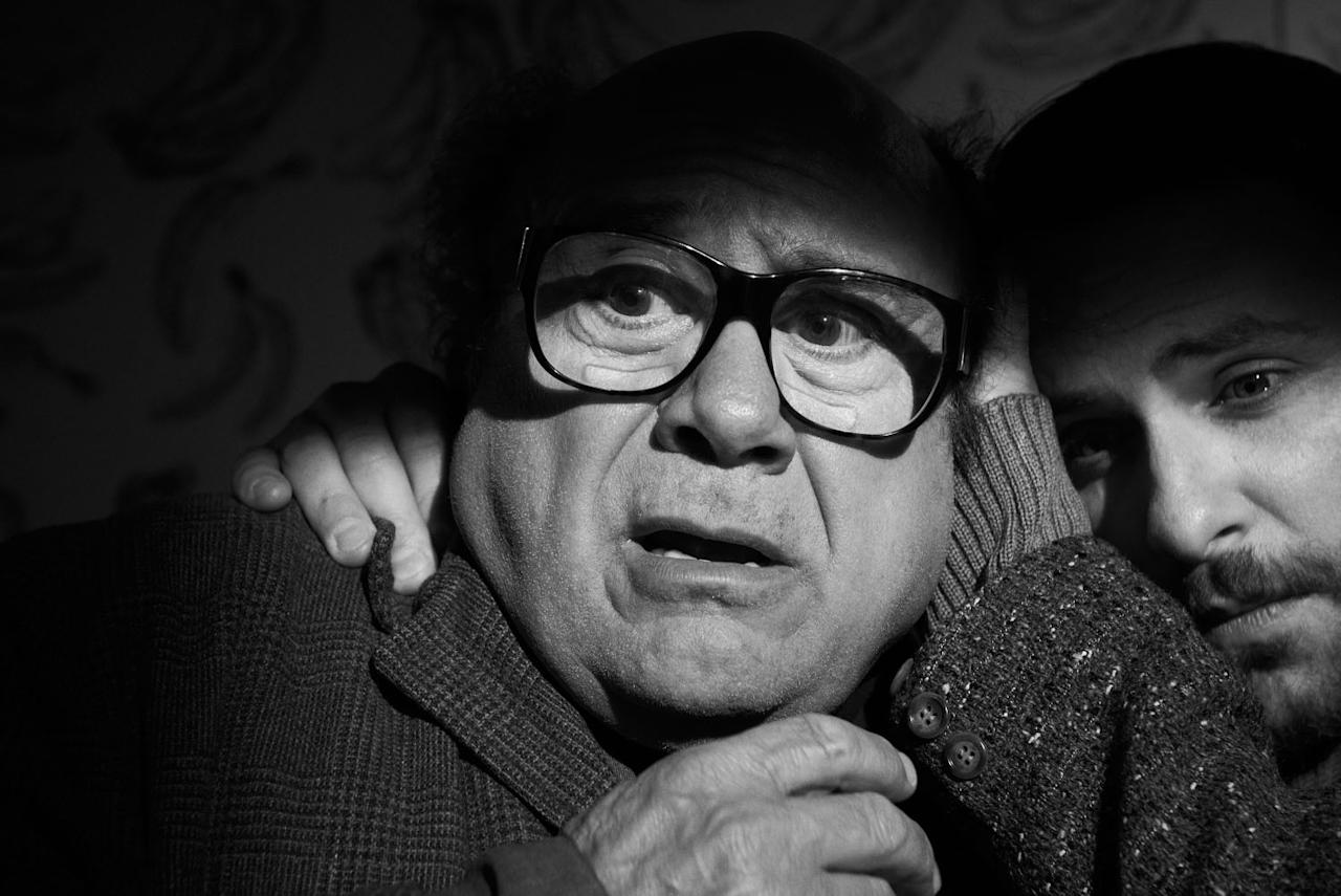 "Danny DeVito as Frank Reynolds and Charlie Day as Charlie Kelly in ""It's Always Sunny In Philadelphia"" Season 9 on FXX."