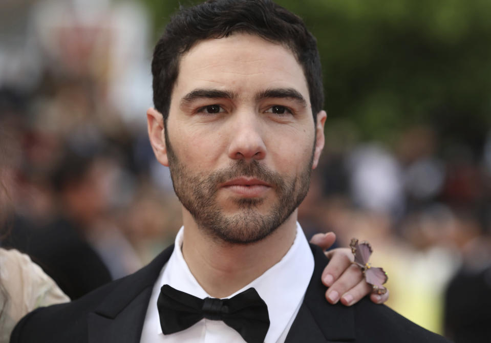 """FILE - Actor Tahar Rahim arrives at the premiere of the film """"Sink or Swim"""" at the 71st international film festival, Cannes, southern France, on May 13, 2018. Rahim was nominated for a Golden Globe for for best actor in a motion picture drama for his current role in """"The Mauritanian."""" (Photo by Vianney Le Caer/Invision/AP, File)"""