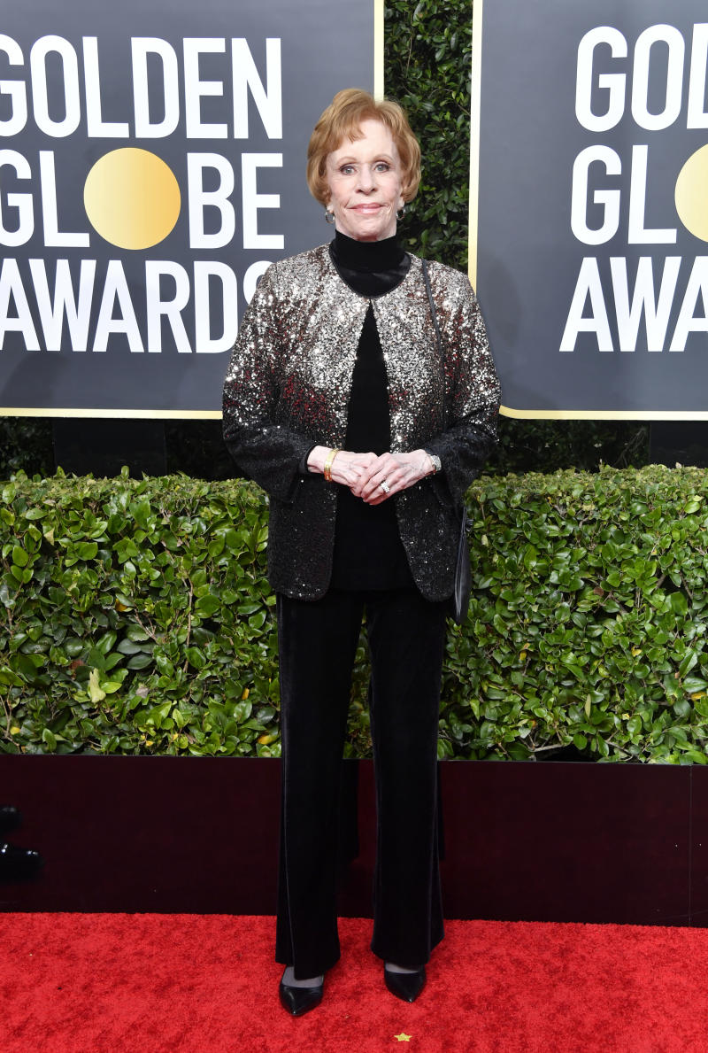 Carol Burnett attends the 77th Annual Golden Globe Awards at The Beverly Hilton Hotel on January 05, 2020 in Beverly Hills, California.