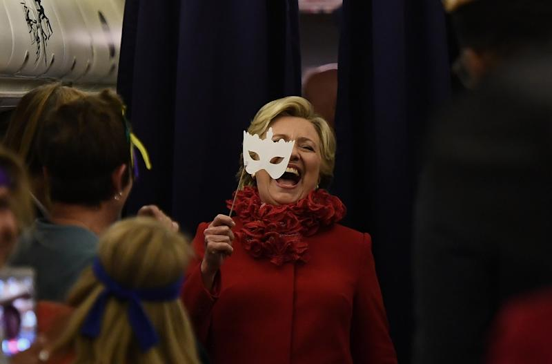 Hillary Clinton took it 'like a champ' on learning the FBI was looking at the email controversy again (AFP Photo/Jewel Samad)