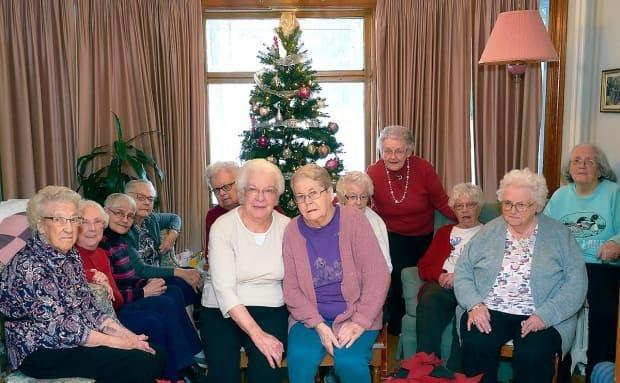 Seniors living at the Women's Institute Home in Woodstock in 2019. (David Love/Submitted - image credit)