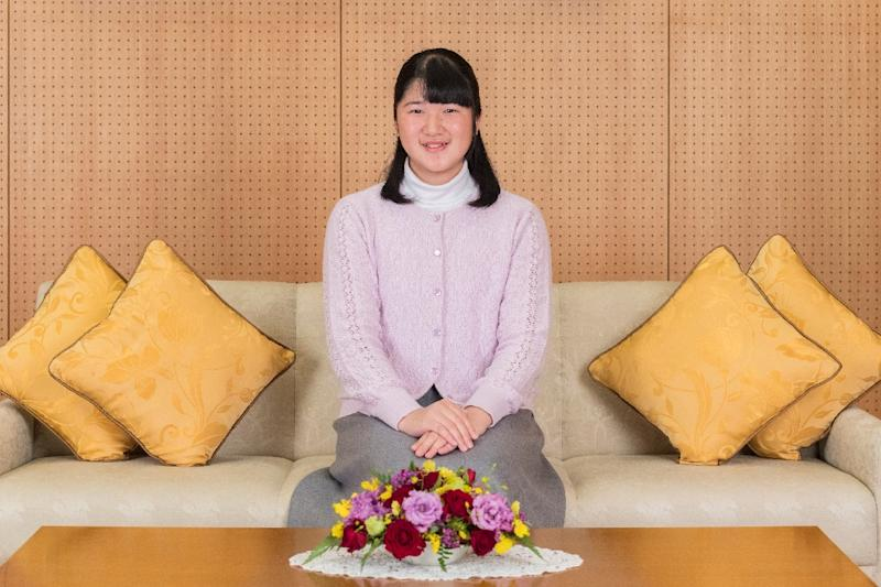 Japanese Crown Prince Naruhito's only child, 17-year-old Princess Aiko, is not in line to inherit the throne (AFP Photo/HANDOUT)
