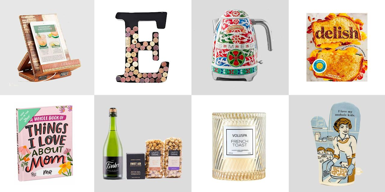 "<p>Whether your mom likes to cook, loves a good glass of wine, or just needs a little reminder of your appreciation (hello, #6) we've got great-and affordable!-Mother's Day gift ideas. And if you're planning on cooking for her too, these <a href=""https://www.delish.com/holiday-recipes/g1053/mothers-day-desserts/"" target=""_blank"">Mother's Day desserts</a> are a great place to start.</p>"