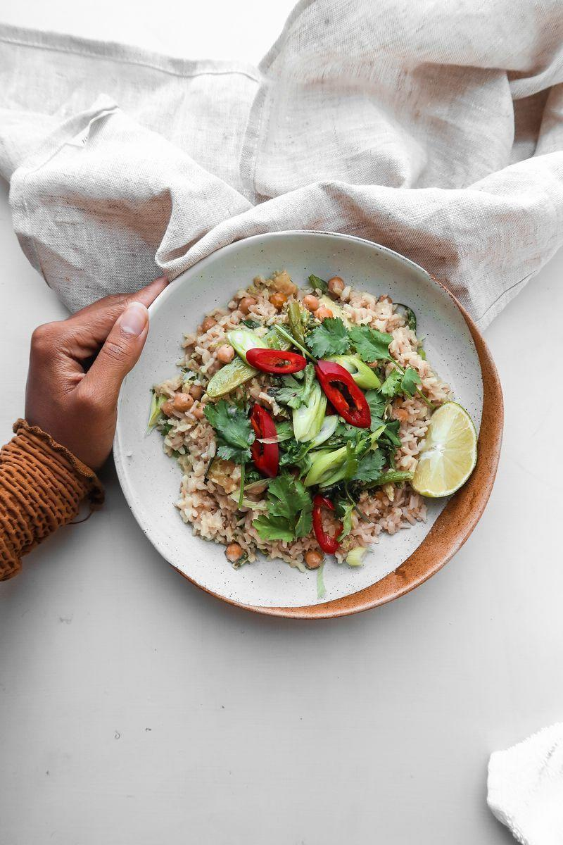 """<p>We LOVE Thai Green <a href=""""https://www.delish.com/uk/curry-recipes/"""" rel=""""nofollow noopener"""" target=""""_blank"""" data-ylk=""""slk:Curry"""" class=""""link rapid-noclick-resp"""">Curry</a>, and there's nothing better to warm you up in the winter months than this. We love Rachel's vegan version. It's super simple to recreate at home, and so, so easy. She created the recipe for vegan restaurant brand <a href=""""https://eatbychloe.com/"""" rel=""""nofollow noopener"""" target=""""_blank"""" data-ylk=""""slk:by CHLOE."""" class=""""link rapid-noclick-resp"""">by CHLOE.</a> as part of World <a href=""""https://www.delish.com/uk/cooking/recipes/a29572043/vegan-breakfast/"""" rel=""""nofollow noopener"""" target=""""_blank"""" data-ylk=""""slk:Vegan"""" class=""""link rapid-noclick-resp"""">Vegan</a> Month, and it's available to buy in restaurants until the end of the month.</p><p>Get the <a href=""""https://www.delish.com/uk/cooking/recipes/a29943535/vegan-thai-green-curry/"""" rel=""""nofollow noopener"""" target=""""_blank"""" data-ylk=""""slk:Vegan Thai Green Curry"""" class=""""link rapid-noclick-resp"""">Vegan Thai Green Curry</a> recipe.</p>"""