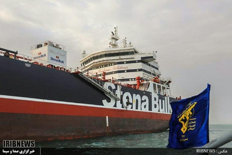 Iran has been trumpeting its continued detention of the UK-flagged tanker on its state media (AFP Photo/HO)
