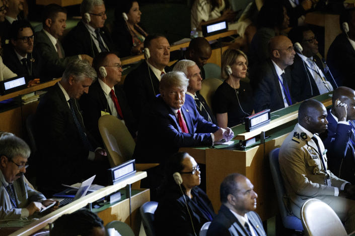 President Trump at the United Nations Climate Action Summit. (Photo: Evan Vucci/AP)