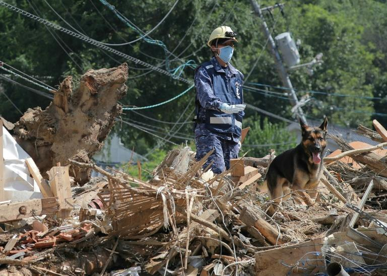 Operations were under way to dig out and clear up after the devastating floods and landslides