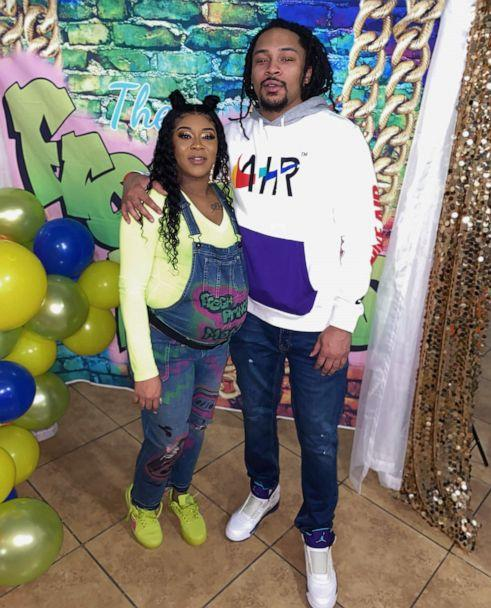 PHOTO: Chaunae Berry pictured with her baby's father, Darnell Moore at their baby shower. (Courtesy of Chaunae Berry)