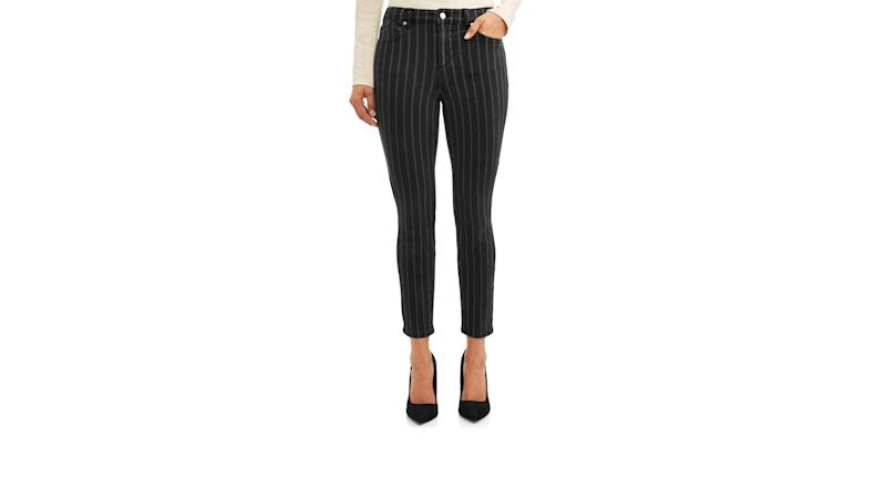Rosa Curvy Striped High Waist Ankle Jean. (Photo: Walmart)