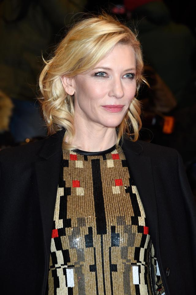 <p>Cate Blanchett attends the <em>Cinderella</em> premiere during the 65th Berlinale International Film Festival at Berlinale Palace on Feb. 13, 2015, in Germany. (Photo: Getty Images) </p>