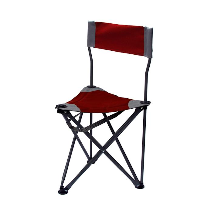 """<h2>TravelChair Company Ultimate Slacker 2.0 Folding Stool</h2><br>If you just need something simple, sweet, and incredibly lightweight, then the folding stool might be for you. Despite its tiny width and 4.8 pound weight, it can withstand up to 275 pounds, and it's not without modest luxuries like a backrest .<br><br><em>Shop<strong> <a href=""""https://www.bedbathandbeyond.com/store/brand/travelchair-company/7543/?wmSkipPwa=1"""" rel=""""nofollow noopener"""" target=""""_blank"""" data-ylk=""""slk:TravelChair Company"""" class=""""link rapid-noclick-resp"""">TravelChair Company</a></strong></em><br><br><strong>TravelChair Company</strong> Ultimate Slacker 2.0 Folding Stool, $, available at <a href=""""https://go.skimresources.com/?id=30283X879131&url=https%3A%2F%2Fwww.bedbathandbeyond.com%2Fstore%2Fproduct%2Ftravelchair-company-ultimate-slacker-2-0-folding-stool%2F5247824%3Fkeyword%3Dcamp%2520chair"""" rel=""""nofollow noopener"""" target=""""_blank"""" data-ylk=""""slk:Bed Bath & Beyond"""" class=""""link rapid-noclick-resp"""">Bed Bath & Beyond</a>"""
