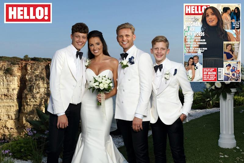 Tied the knot: Jeff Brazier and Kate Dwyer say their 'I dos': PA