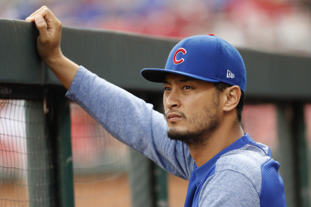 Cubs pitcher Yu Darvish had right elbow surgery but is expected back for spring training. (AP)