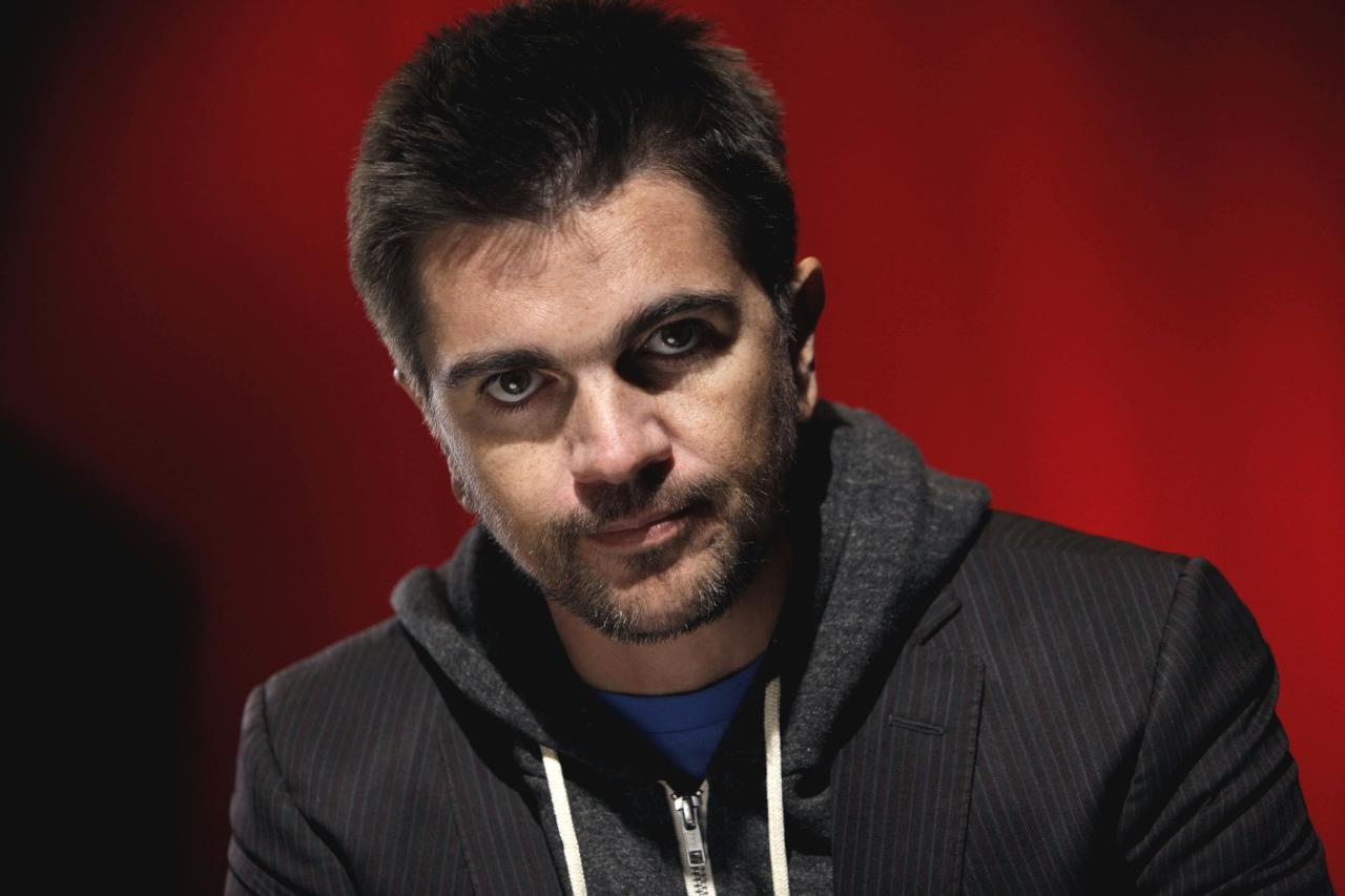 FILE - In this Dec. 6, 2010 file photo, Colombian singer Juanes is shown during an interview in New York.