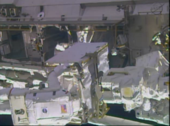 Spacewalking Astronauts Remove Faulty Space Station Pump Ahead of Schedule