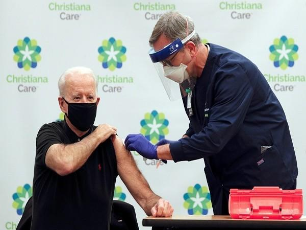 US President-elect Joe Biden receiving his second dose of Covid-19 vaccine (Credit: Reuters Pictures)