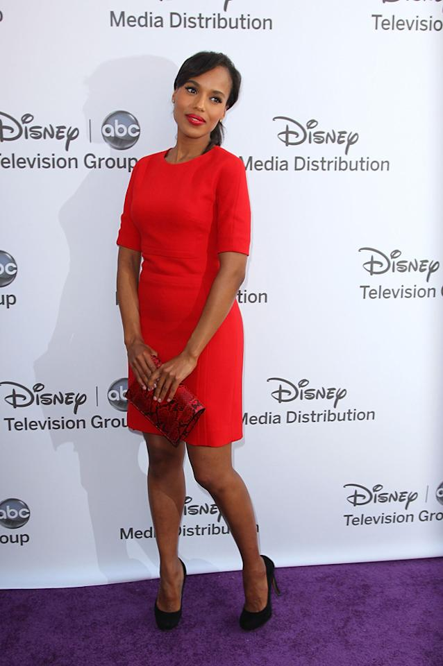 "Kerry Washington (""Scandal"") attends the Disney Media Networks International Upfronts held at Walt Disney Studios on May 20, 2012 in Burbank, California."