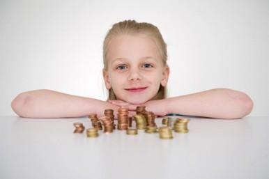 gril with coins