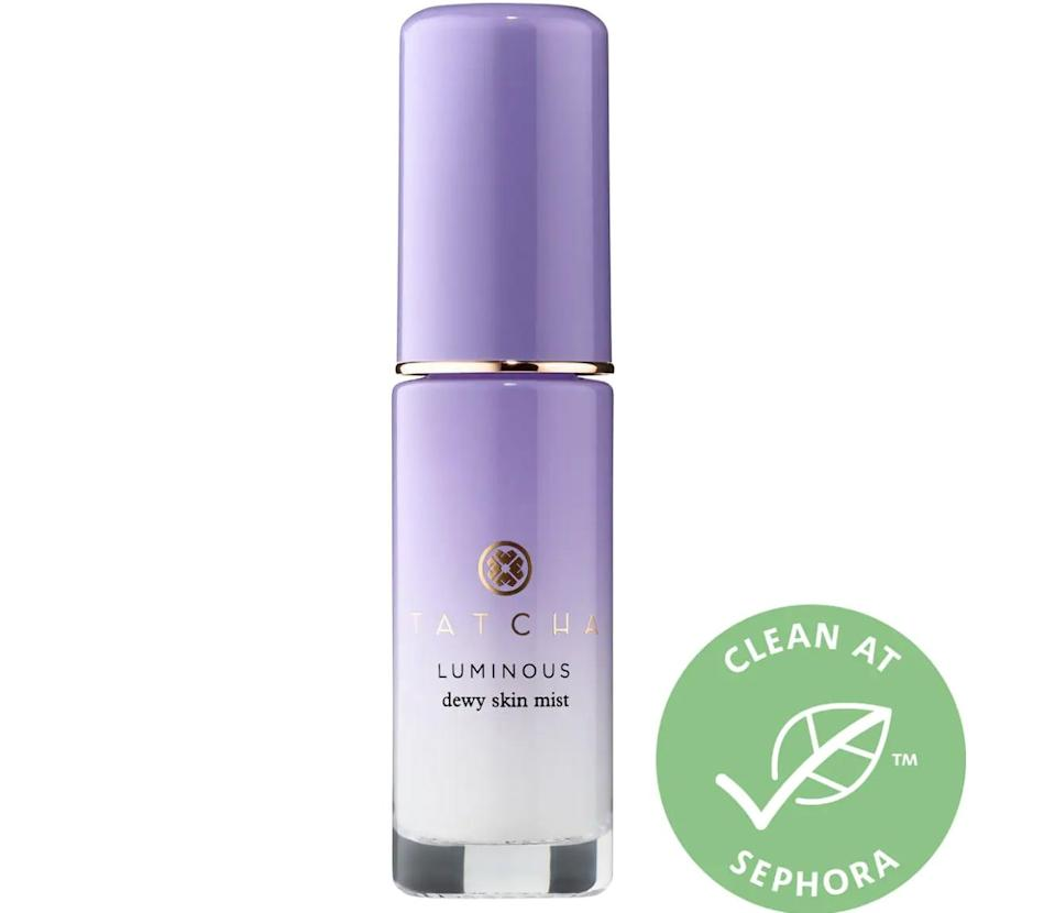 <p>Hang this luxe <span>Tatcha Limited Edition Luminous Dewy Skin Mist Ornament</span> ($20) on the tree.</p>