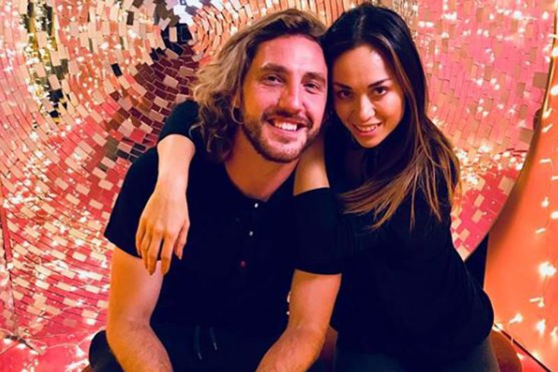 Kissgate: Seann Walsh and Katya Jones were pictured in a passionate embrace: Instagram / Katya Jones
