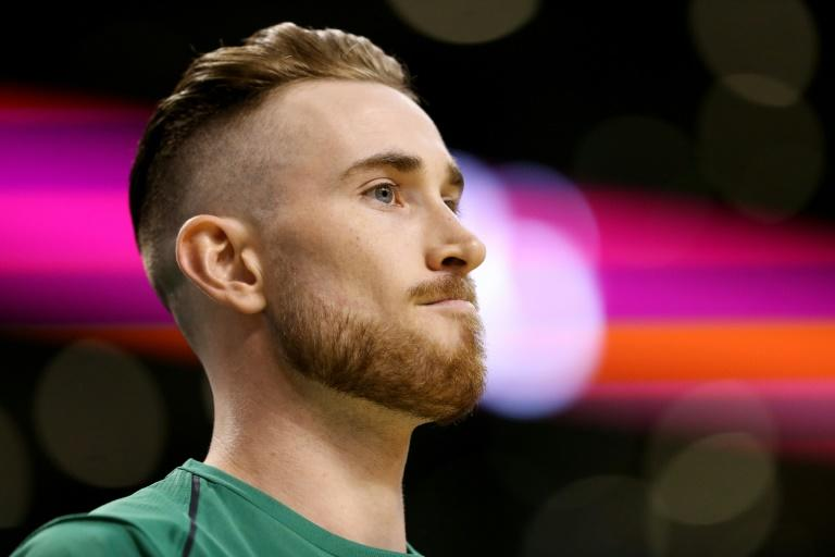 """Boston Celtics forward Gordon Hayward vowed he """"will be all right"""" in a video message on October 18, 2017, after a gruesome left leg injury during a NBA game a day earlier in Cleveland"""