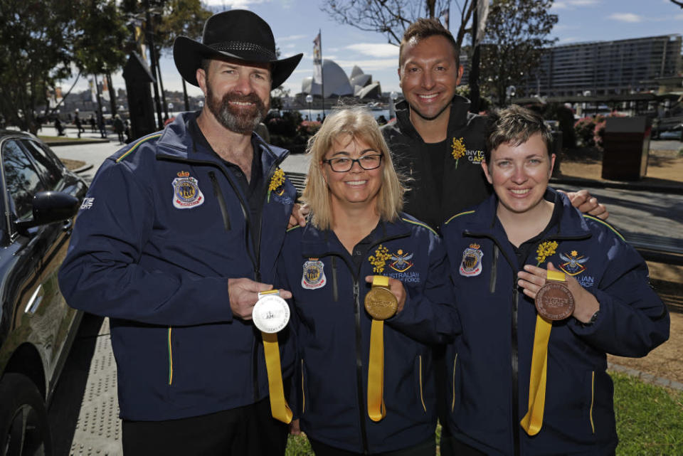 Carrie-Anne (right) is one of 72 Aussie athletes in the Invictus Games. Photo: Department of Defence