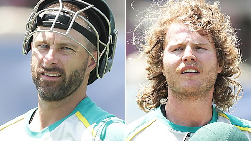 Matthew Wade and Will Pucovski are reportedly at risk of losing their contracts with Cricket Australia for the 2021/2022 season. Pictures: Getty Images