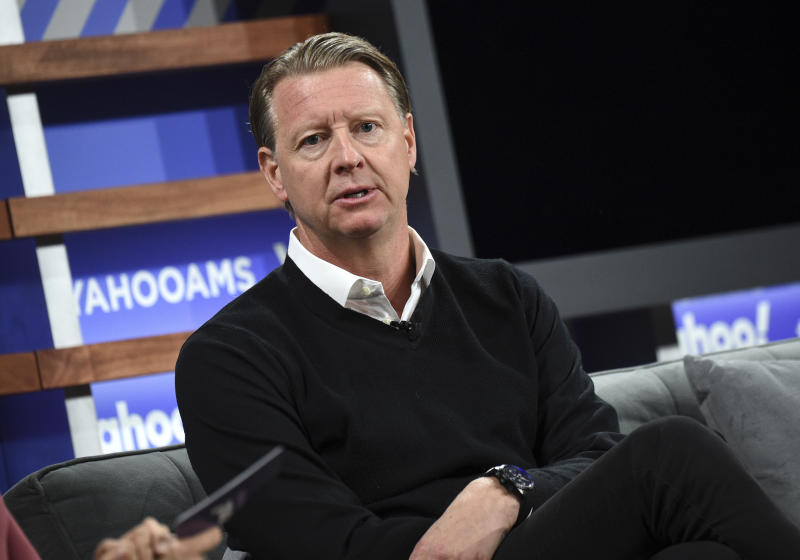 Verizon CEO Hans Vestberg participates in the Yahoo Finance All Markets Summit at Union West on Thursday, Oct. 10, 2019, in New York. (Photo by Evan Agostini/Invision/AP)